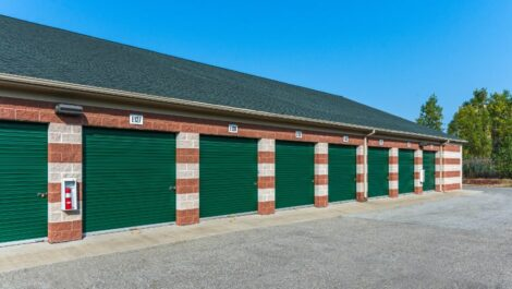 Drive-up access storage units at National Storage Centers in Comstock Park, MI.