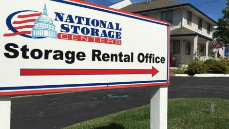 National Storage Center of Ann Arbor facility sign.