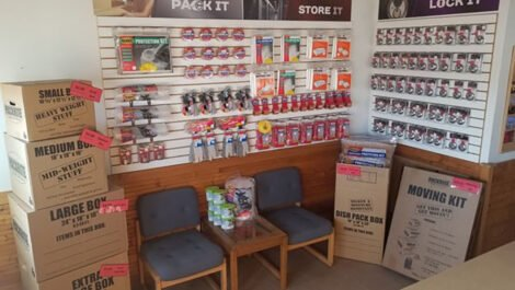 Moving boxes and supplies for sale.