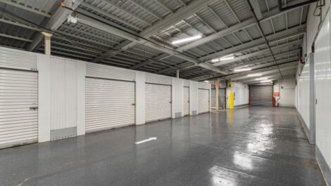 Indoor loading area at National Storage Centers in Detroit, MI.