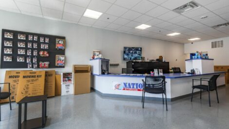 Leasing office at National Storage Centers in Detroit, MI.
