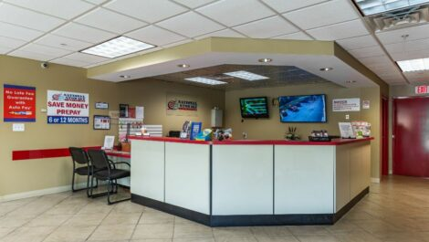 Leasing office at National Storage Centers in Pontiac, MI.