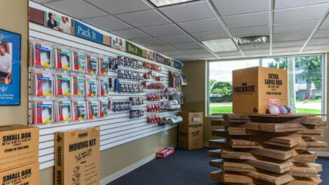 Moving and packing supplies at National Storage Centers in Pontiac, MI.