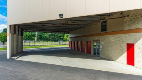 Covered loading bays at National Storage Centers in Pontiac MI.
