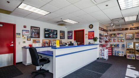Leasing office with packing and moving supplies at Center Line Self Storage in Center Line, MI.