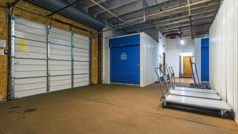 Loading area with dollies at National Storage Centers in Grand Rapids, MI.