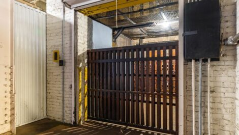 Loading elevator at National Storage Centers in Grand Rapids, MI.