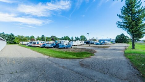 National Storage Centers Highland boat and RV parking storage.
