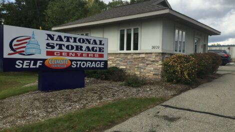 National Storage Centers facility storefront in Kentwood, Michigan.