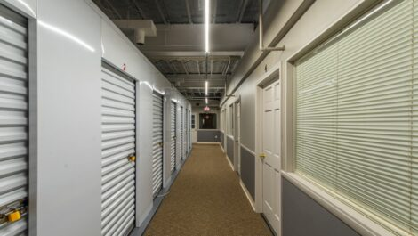 Indoor, climate controlled units at National Storage Centers in Lakewood, OH.