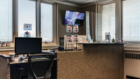 Leasing office at National Storage Centers in Lakewood, OH.