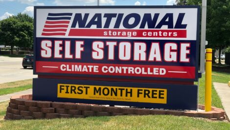 National Storage Centers yard sign.