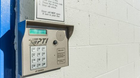 National Storage Center of Ann Arbor - Plymouth Rd keypad entry.