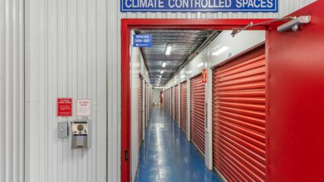 National Storage Center of Redford climate controlled unit hallway.