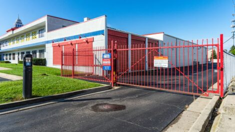 National Storage Center of Redford security gate.