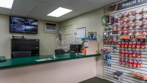 Stor-N-Lock Self Storage office interior and packing supplies for sale.