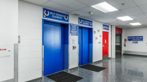 Elevators at National Storage Centers in Southfield, MI.