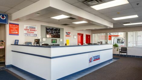 Leasing office at National Storage Centers in Southfield, MI.