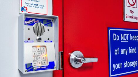Security keypad at National Storage Centers in Southfield, MI.