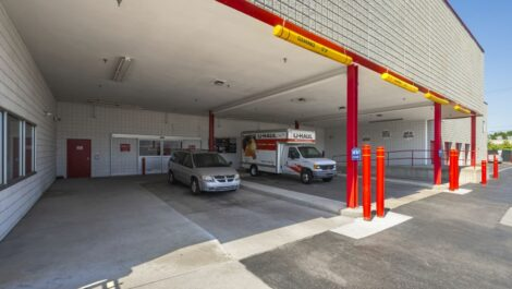 Covered loading bays at National Storage Centers in Southfield, MI.