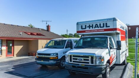 The Storage Chest U-Hauls available for rent.