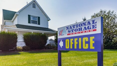 National Storage Centers of Traverse sign in Traverse City, MI.
