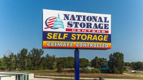National Storage Centers of Traverse-Silver Lake roadside sign.