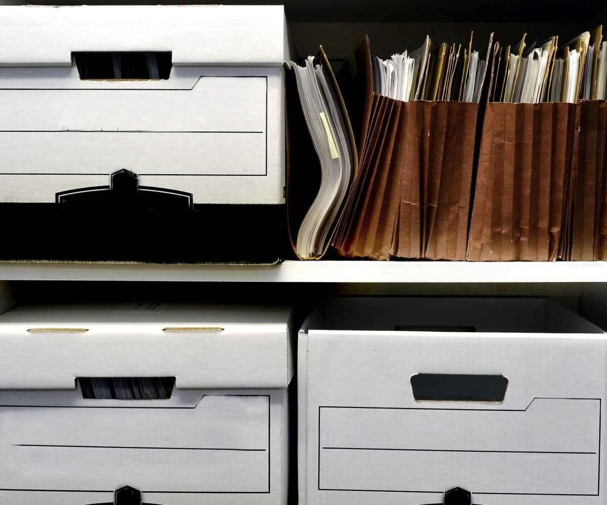 business document storage tips for tax season