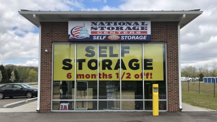National Storage Centers facility storefront in South Lyon, Michigan.