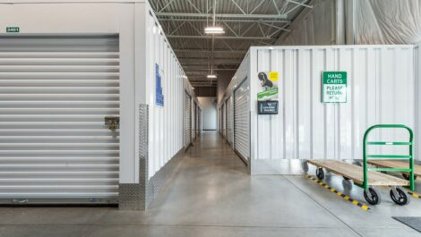 Climate controlled units and dollies at National Storage Centers in Byron Center, MI.