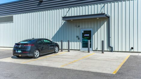 Entrance 1 at National Storage Centers in Byron Center, MI.