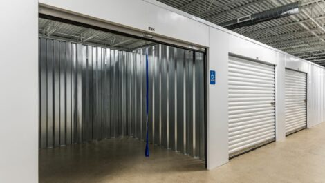 Large, open climate controlled unit at National Storage Centers in Walker, MI.