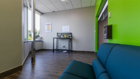 Lobby waiting area at National Storage Centers in Walker, MI.