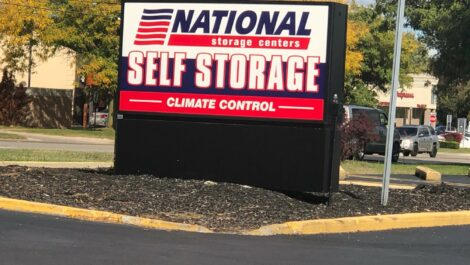National Storage Centers sign in Livonia, Michigan.