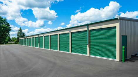 Large, drive-up access units at C-More Self Storage in Ortonville, MI.