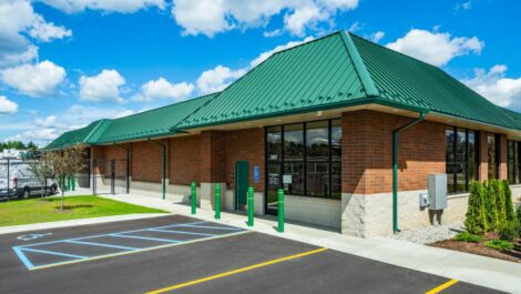 Handicap parking and office at C-More Self Storage in Ortonville, MI.